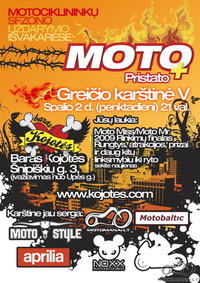 Moto sezono 2009 uždarymo vakarėlis Spalio 2d.