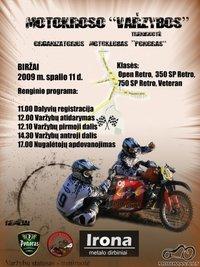 Motokroso varžybos Biržuose 2009-10-11