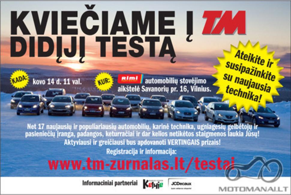 Kovo 14 d. TM didysis testas 2009 Vilniuje