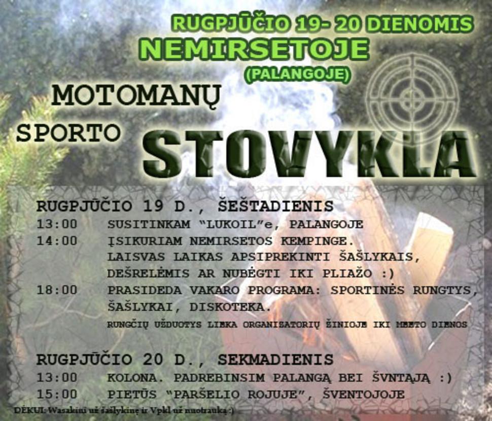 Motomanų Sporto Stovykla Nemirsetoje, rugpjūčio 19-20 d. ĮVYKO