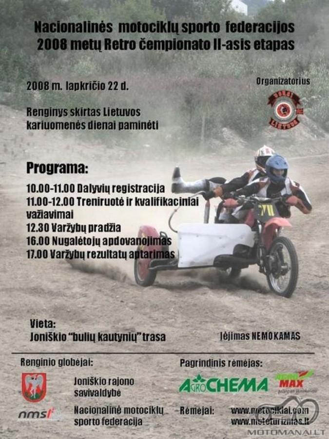 Retro motokrosas Joniškyje 2008-11-22