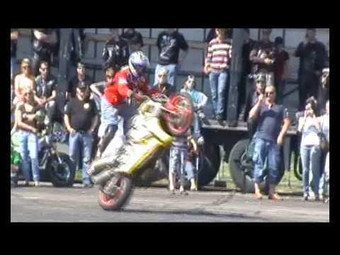Part 1 of 2 Bike Show Millenium 2010   ( motorcycle stunt show )