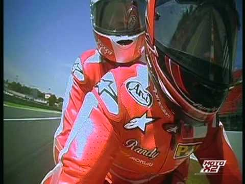 On bike with Randy Mamola Moto GP Montmelo  junio 2 009