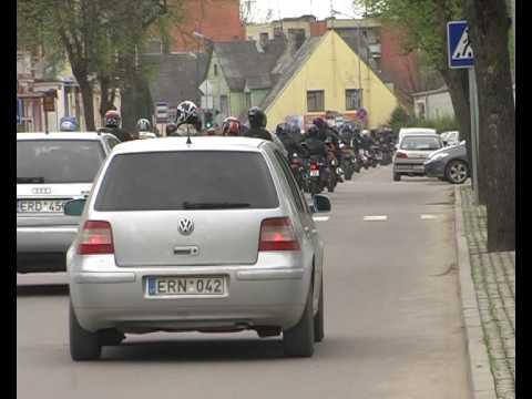 Birzu motociklininku sezono atidarymas 2010.05.08.