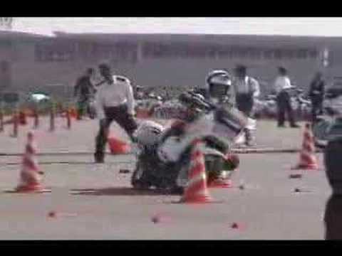 Japanese Police Motorcycle Riding Competition