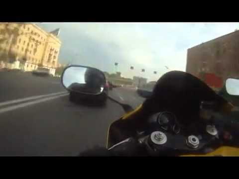 Yamaha R1 on Russian streets