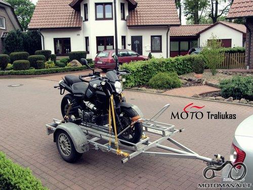 Priekaba motociklui transportuoti / Priekabos nuoma motociklui