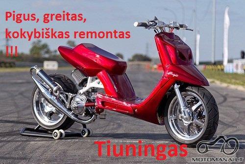 Motorolerių remontas Vilniuje