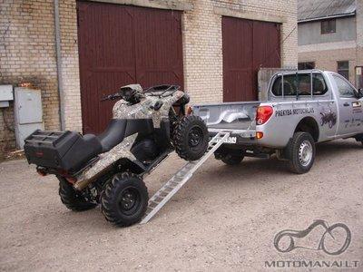 ATV ir motociklų transportavimas